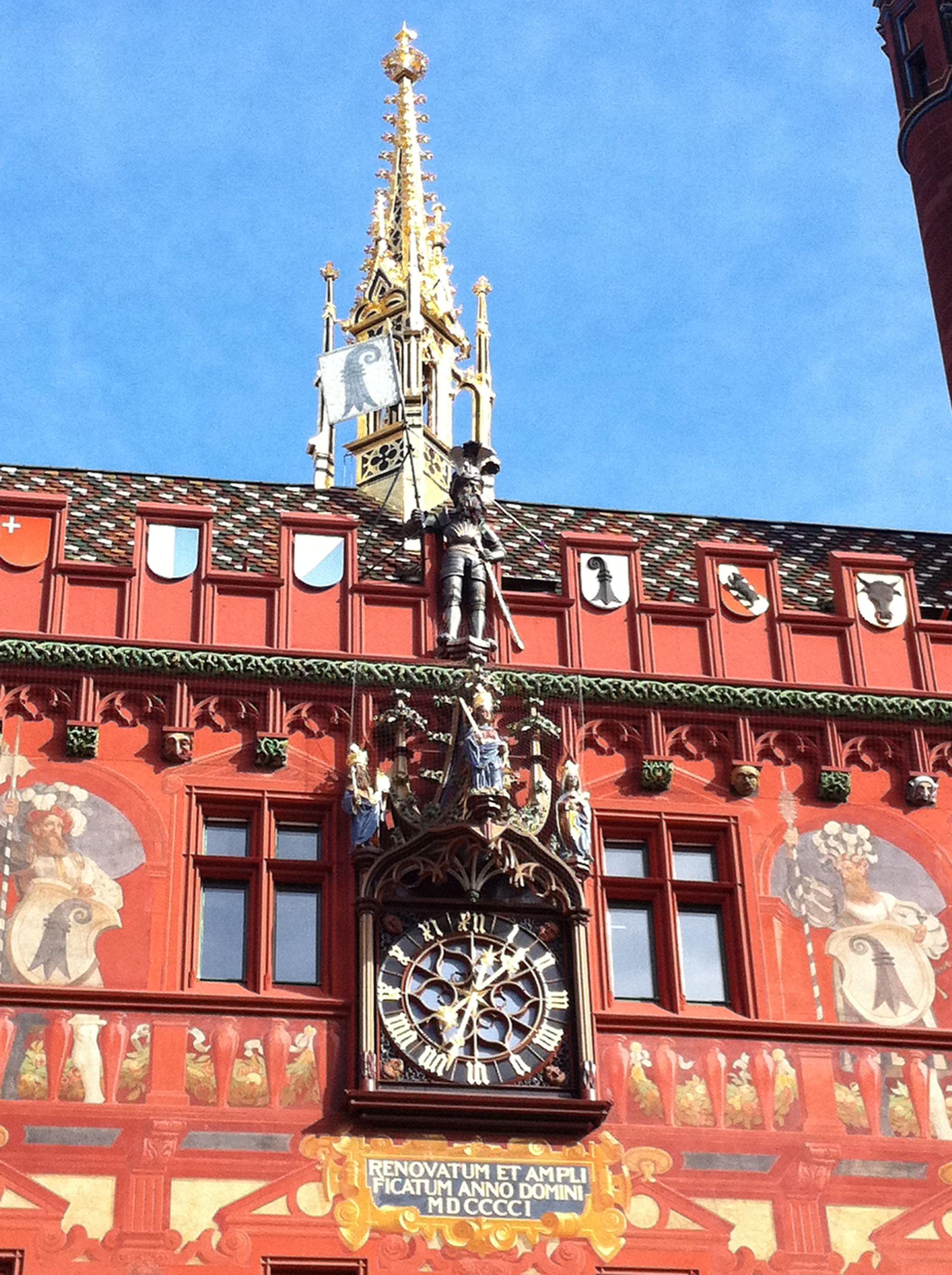 Detail On Basel Town Hall Facade Facade Town Hall Big Ben