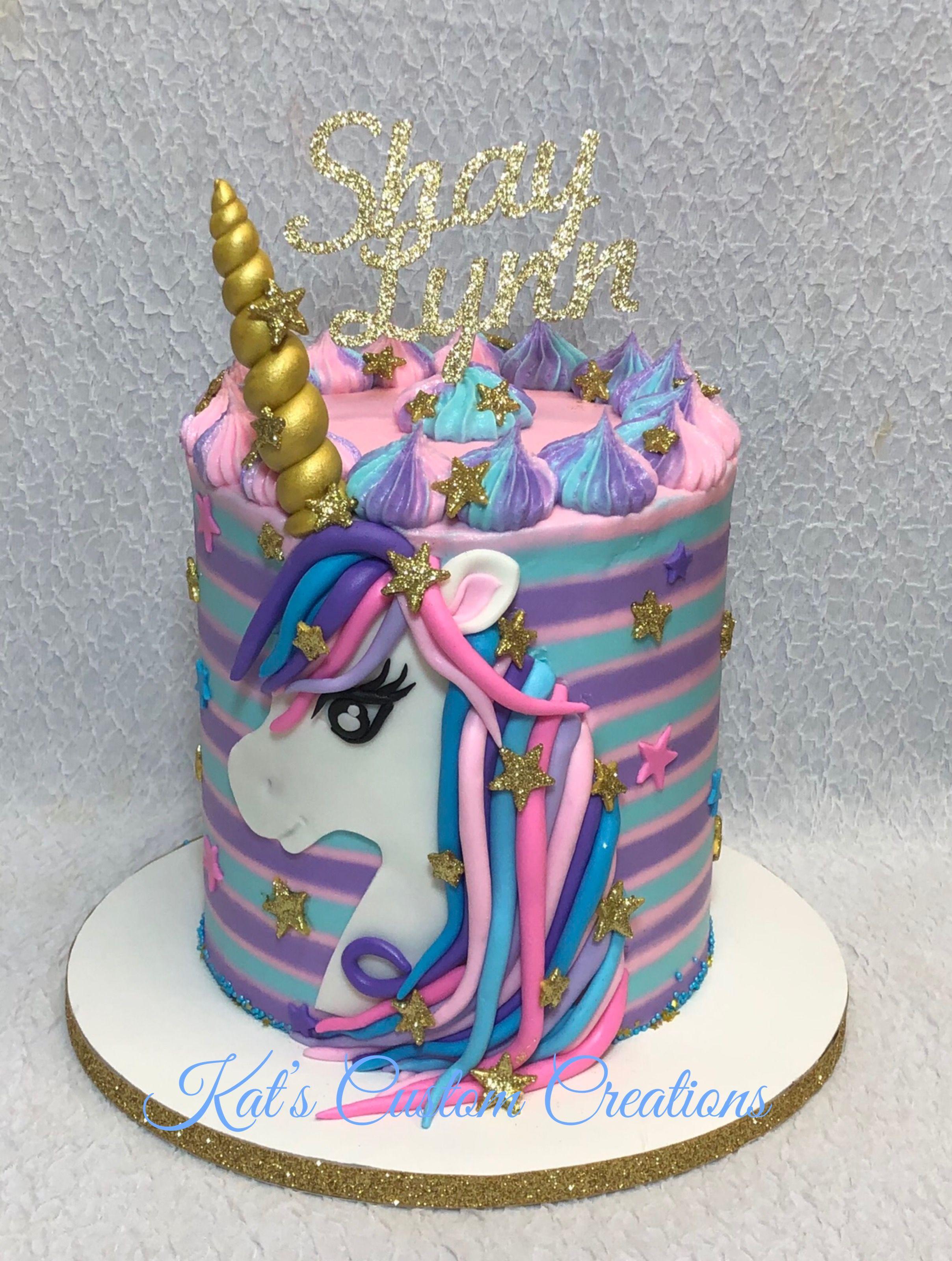 Beautiful Pink Purple And Blue Unicorn Cake Unicorn Birthday Cake Unicorn Cake Girl Cakes