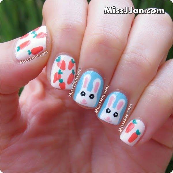 Easter Bunny Nail Art {Tutorial} | Nail Art Tutorials | Pinterest ...