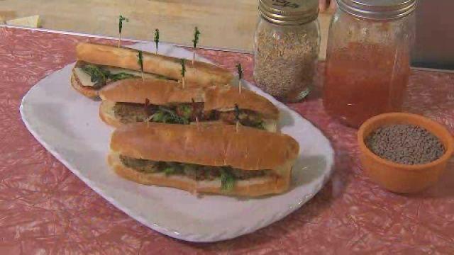 Healthy Dish: Lentil 'Meatball' Seahawks Sub