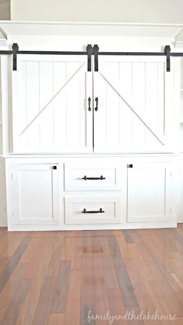Sliding Barn Door Entertainment Center Family And The
