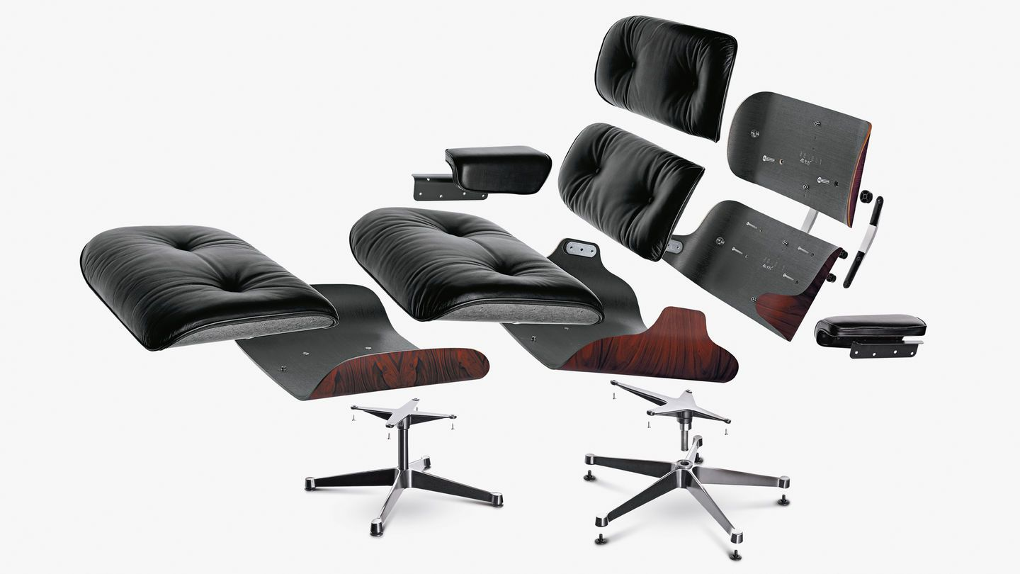 Vitra Lounge Chair Stühle Charles Eames Wohnzimmersessel