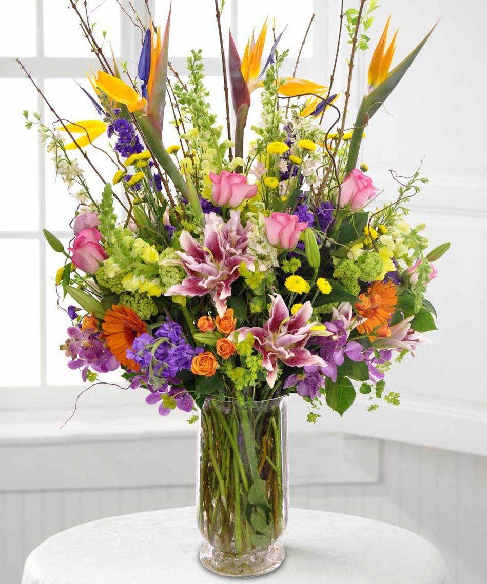 1 Mille De Fleur Beautiful Arrangement For Any Occasion Bird Of Paradise Stargazer Lily