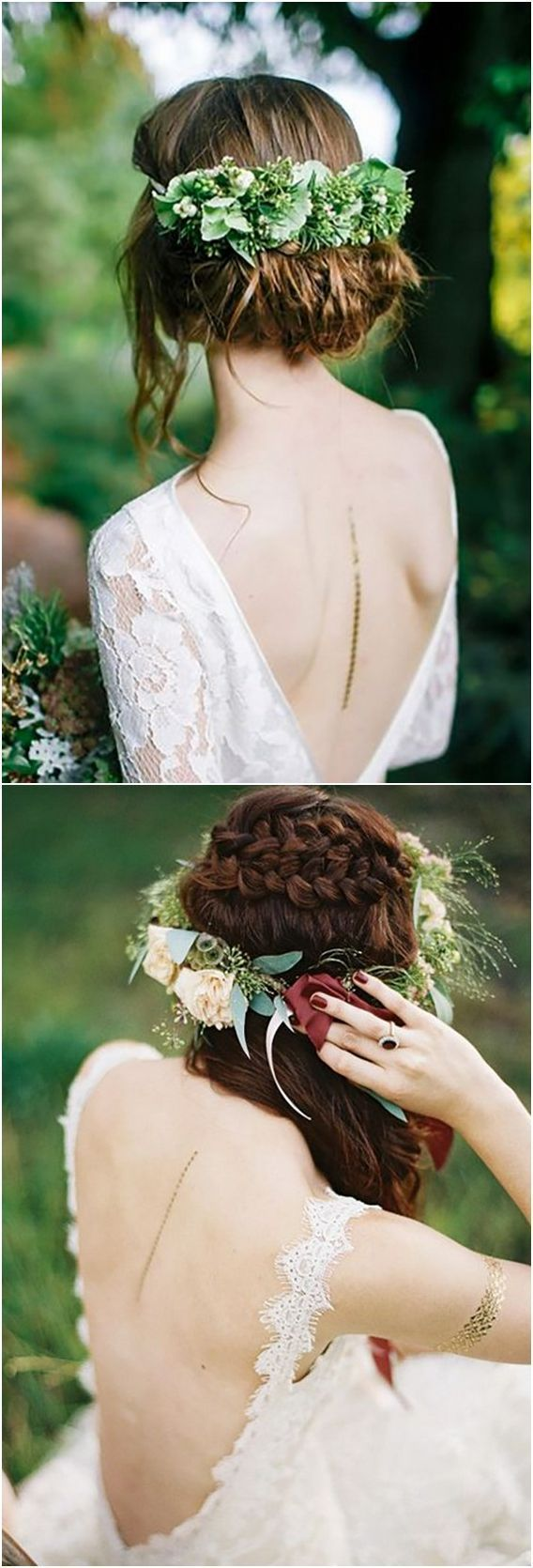 Pin by wedding planner on wedding crowns pinterest weddingideas today incorporating a flower crown to an updo or loose locks is an easy way for brides to add subtle color texture and natural beauty to a wedding day izmirmasajfo