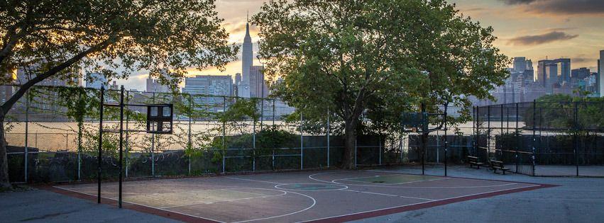 Basketball Court Brooklyn New York, New York. park/sport