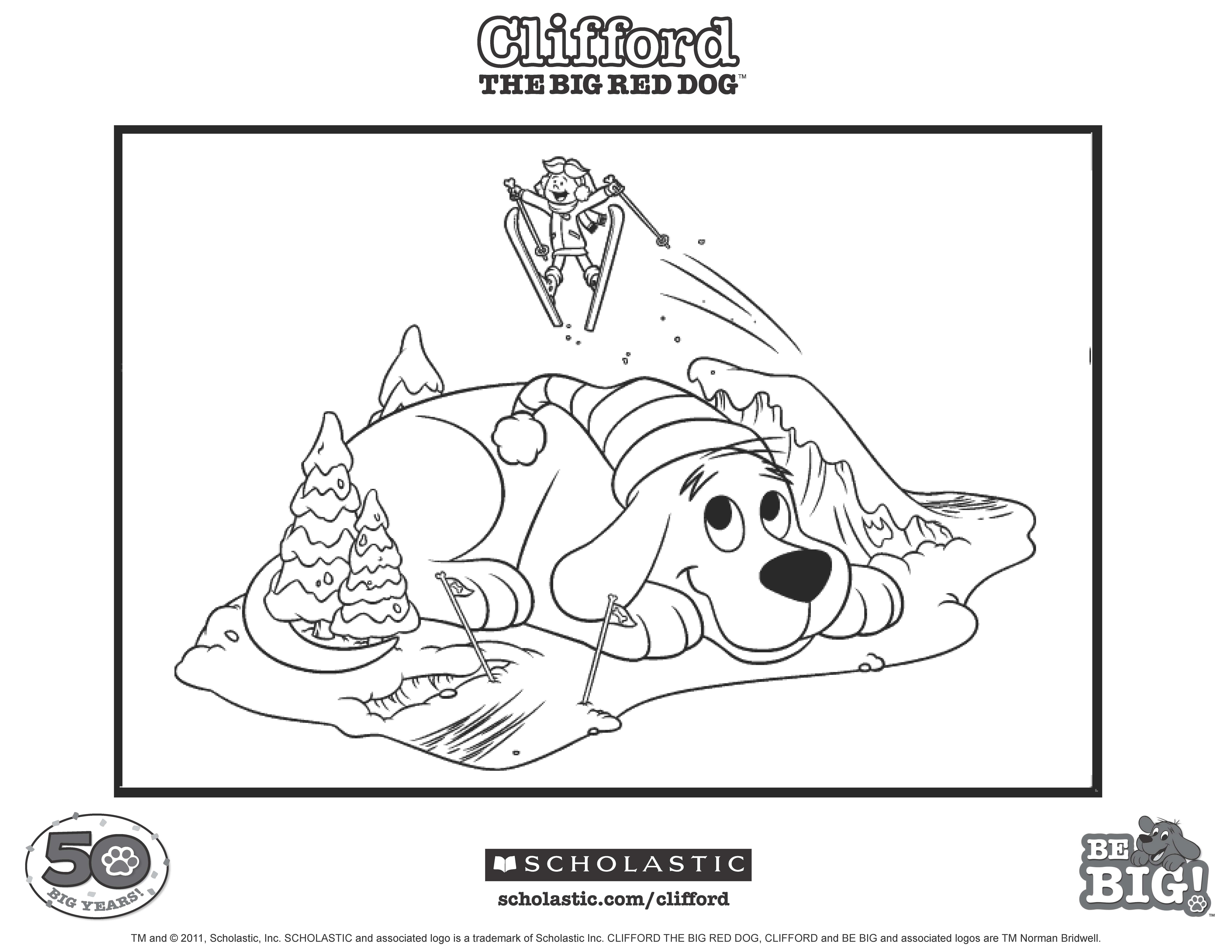 Clifford And Emily Elizabeth Love Snow And Skiing Keywords Coloring Printable