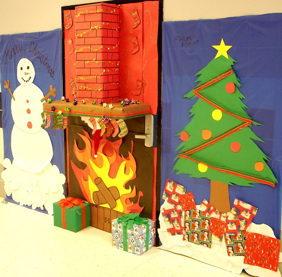 christmas office door decorations. christmas office door like the hearth but it might get in wayhmmm decorations e
