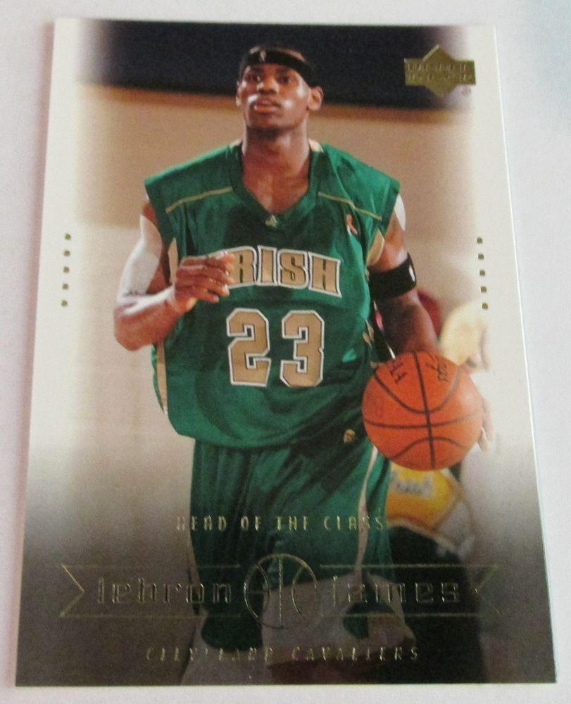 2003 04 Ud Lebron James Rookie Card 6 Lebron James Rookie Card Basketball Cards Lebron James
