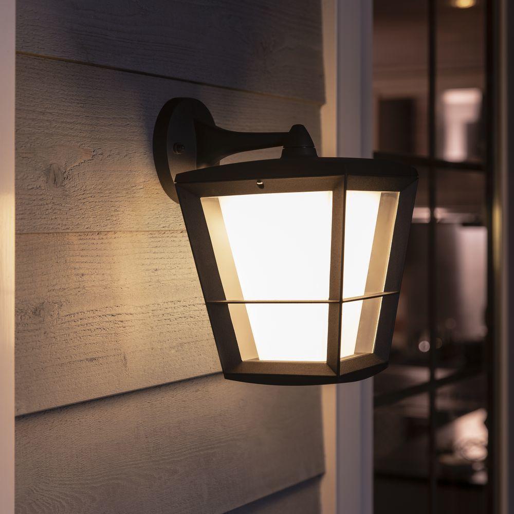 Philips Hue White Color Ambiance Econic Wandleuchte Schwarz Laternenform Hangend In 2020 Wandleuchte Lampen Und Leuchten