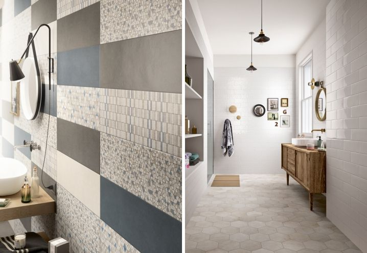 Design bathroom with Marazzi tiles / Un bagno di design con ...