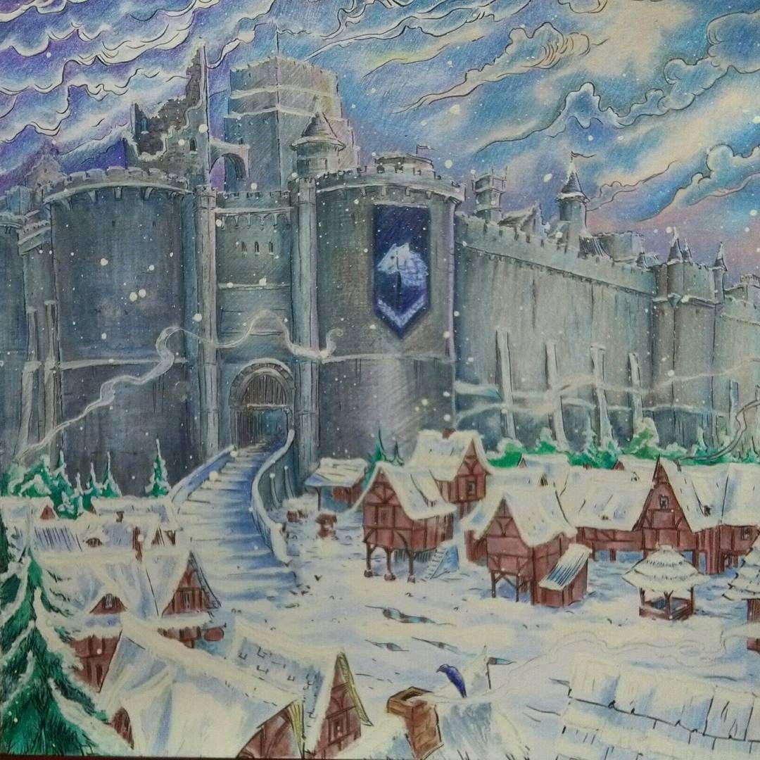 Gameofthronescoloringbook Coloringbook Winterfell (с ...