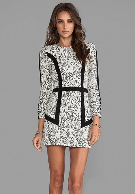 PARKER Blanche Paneled Dress in Creme - Parker