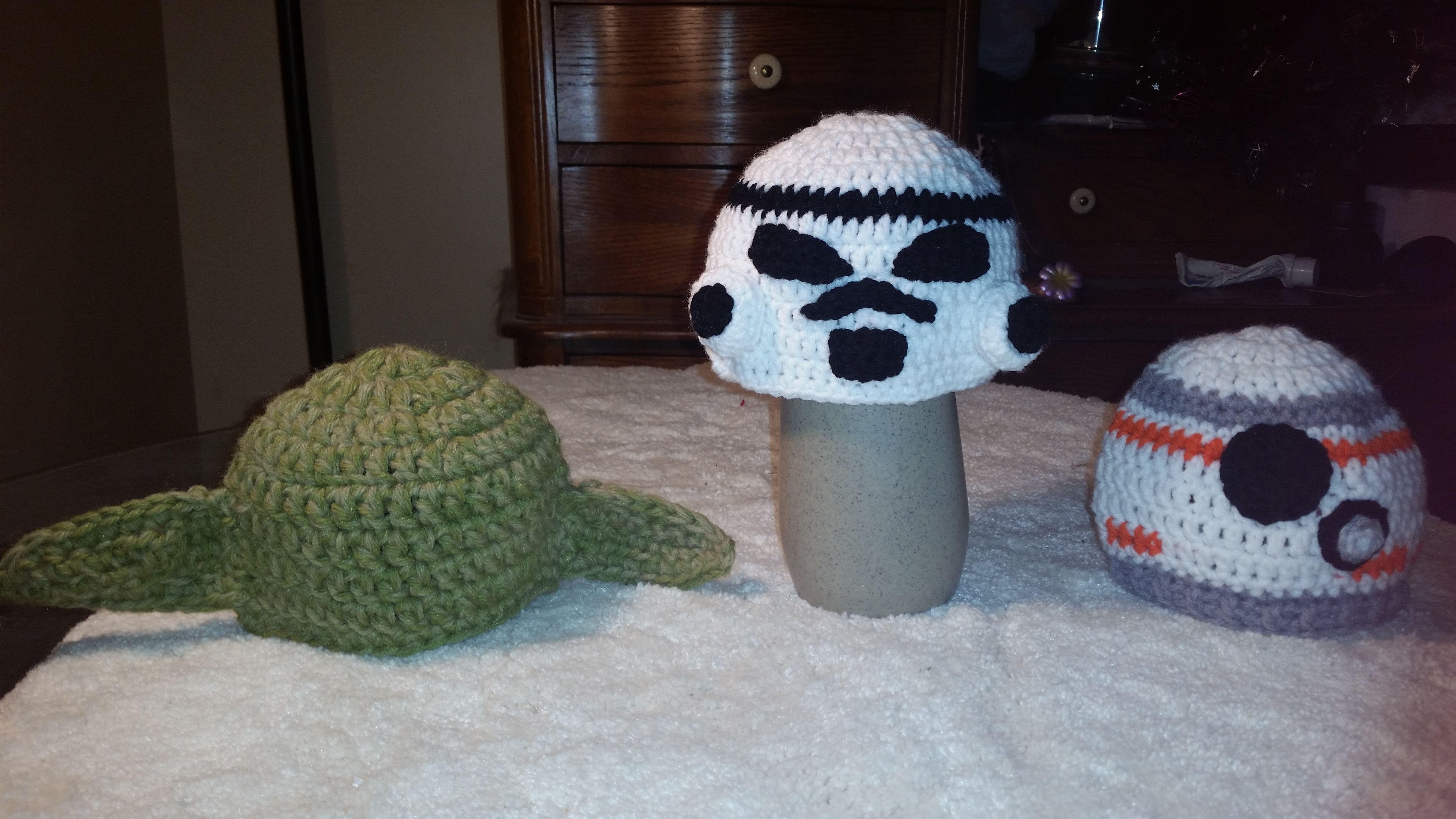star war hats  https://www.facebook.com/DeniseOriginalCrochetedCreations/?ref=hl