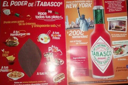 Tabasco.com.es en folleto adjunto en el periódico El País. Domingo 25/10/2015