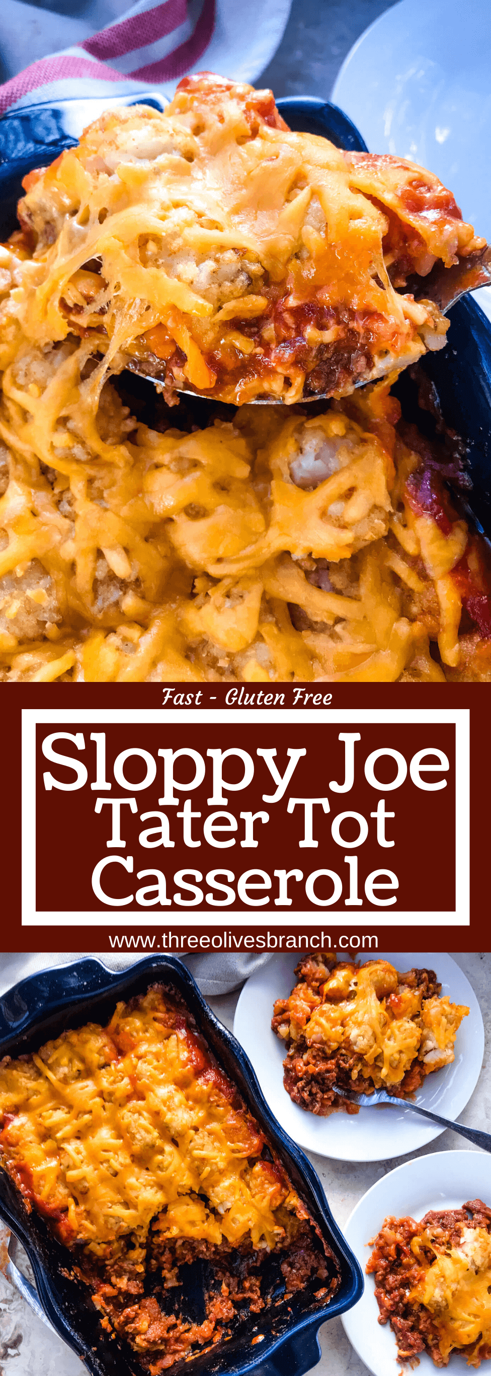 Photo of Beef Sloppy Joe Tater Tot Casserole – Three Olives Branch