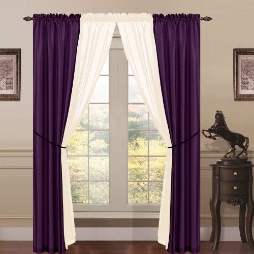 Superb Pretty Deep Purple Curtain | Best Curtains Design
