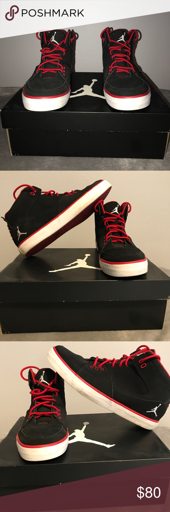 116152002d7966 Jordan Flight 23 AC • Worn a couple of times back in 2012. Been in my  closet ever since. Still smell brand new because of the few times I wore  them and ...
