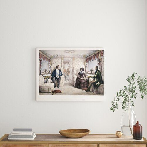 Photo of Poster King Louis Philippe, Queen Victoria and Prince Albert in the Royal Carriage von Jules David East Urban Home Format: Leinwand umschließt Rahmen, Größe: 78,8cm H x 100cm B x 3,8cm T