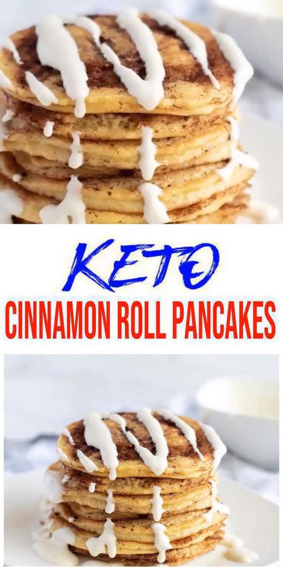 BEST Keto Cinnamon Roll Pancakes! Low Carb Keto Cinnamon Roll Pancake Idea – Quick & Easy Ketogenic Diet Recipe – Completely Keto Friendly