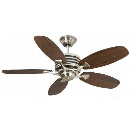 Fantasia 114345 Omega Ceiling Fan Brushed Nickel Ceiling Fan