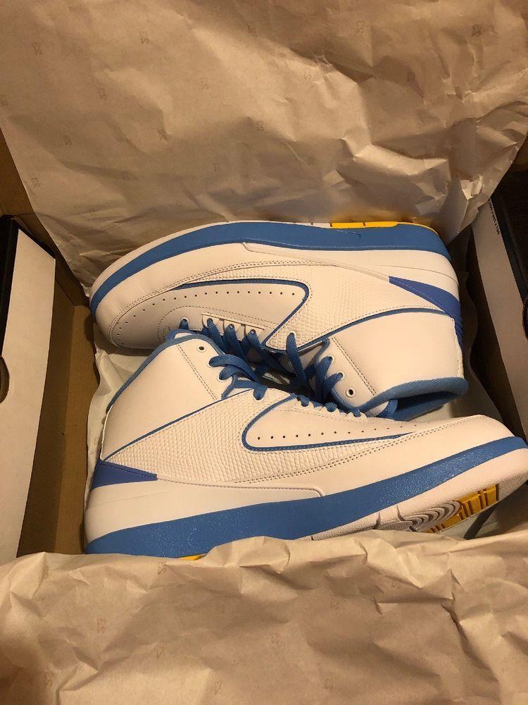 new product 859c6 e5728 Nike Air Jordan Retro II 2 Melo 2018 White University Blue ...