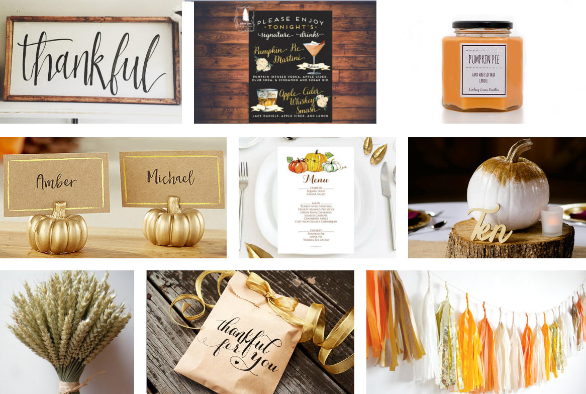Thanksgiving Wedding Theme - friends, family and lots and lots of ...