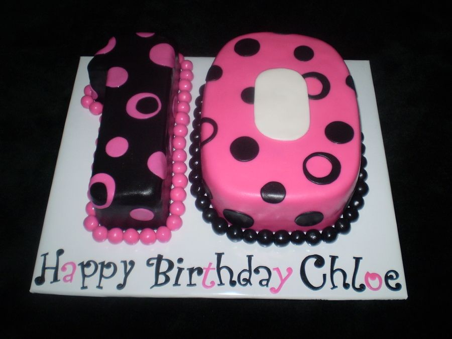 Spoted Number Ten   Cake Birthday Pinterest Cake - 10th birthday cake