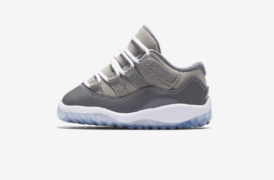 56e0e8fbd479c6 Air Jordan 11 Low Cool Grey Coming In Full Family Sizes Families can  rejoice as the