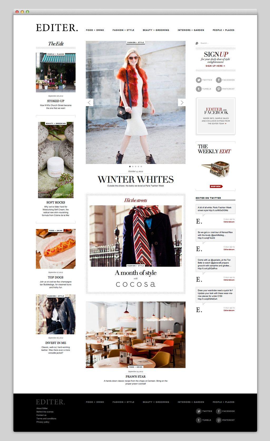 Websites | WEB design | Pinterest | Editor, Website design layout ...