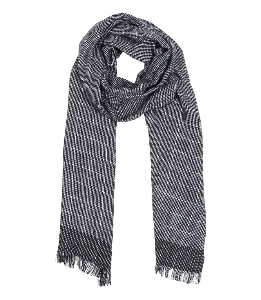 Men's Vincent Black and White Checkered Scarf at Amazon Men's Clothing  store: Fashion Scarves, Fashion Scarves, … | Scarf styles, Plaid fashion,  Scarf women fashion