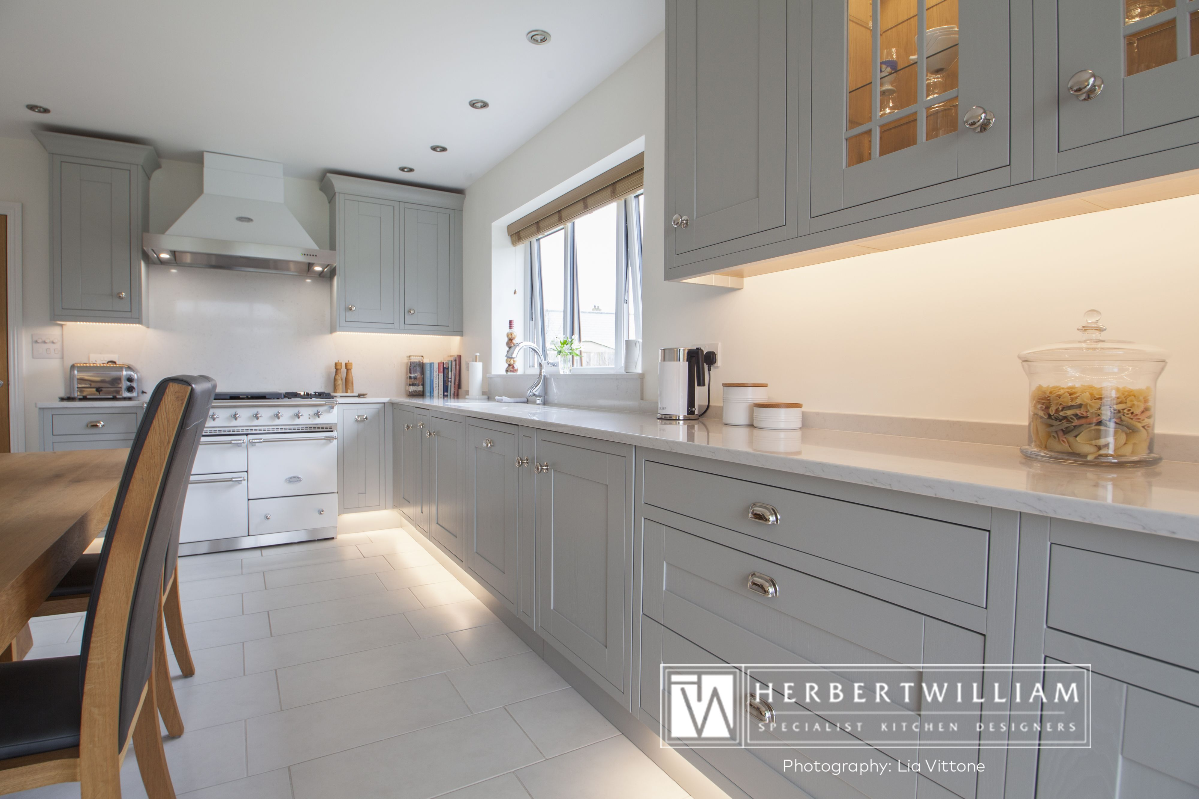 Light Grey Shaker Kitchen Design By Lorna One Of Our In House Designers From Herbert William W Shaker Kitchen Design Elegant Kitchen Design Grey Shaker Kitchen