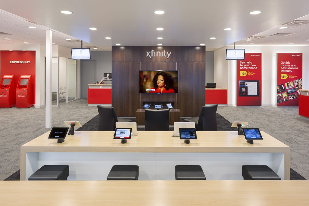 Interior retail design for Comcast Xfinity by