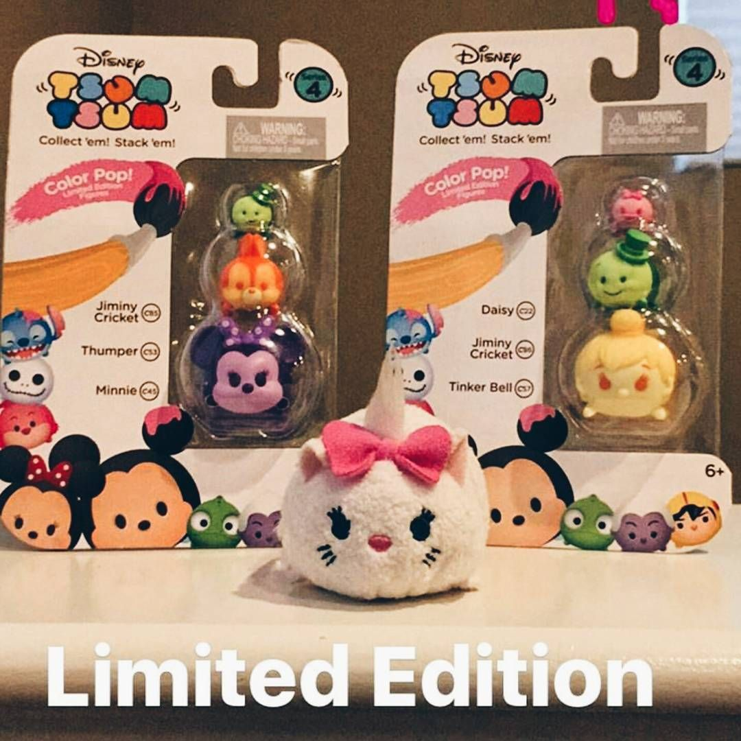 Daisy//Jiminy Cricket//Tinker Bell Tsum Tsum 3-Pack Figures Color Pop