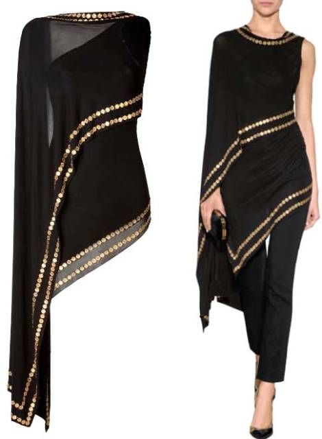 online store a8f4a b07fe DONNA KARAN Coin Embellished Cold Shoulder Top | moda ...