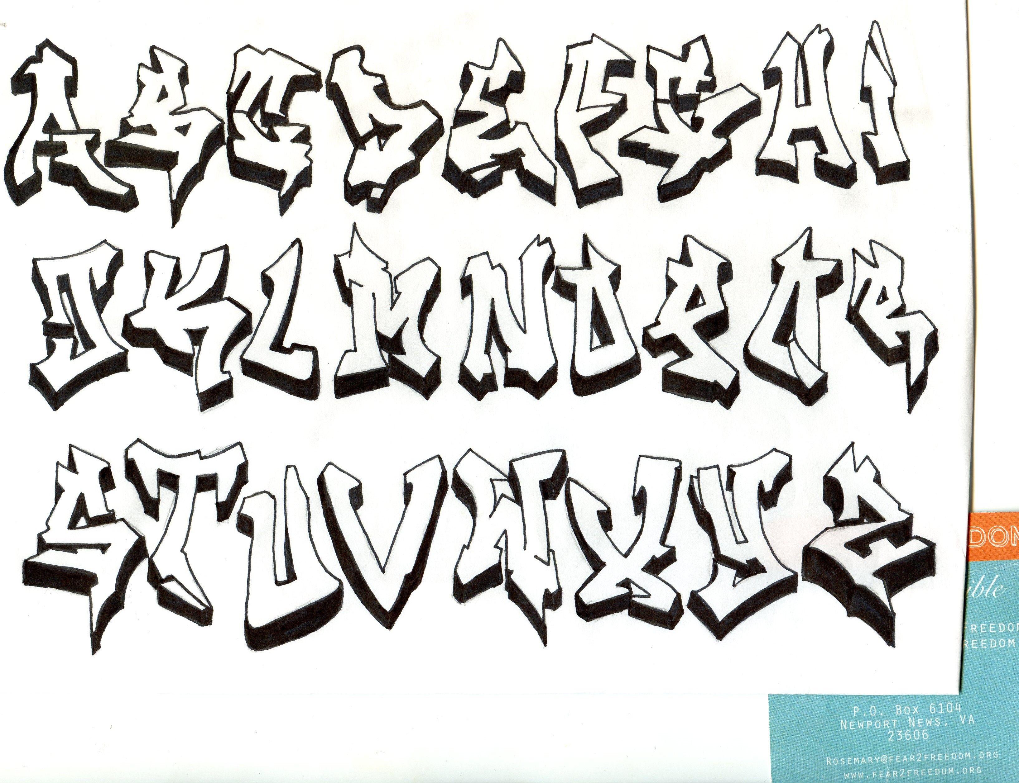 Simple Graffiti Styles | Graffiti lettering alphabet ...
