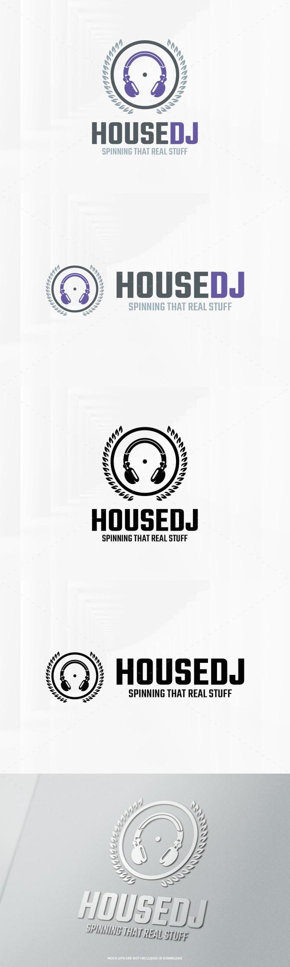 house dj logo template logo templates 29 00 logo templates