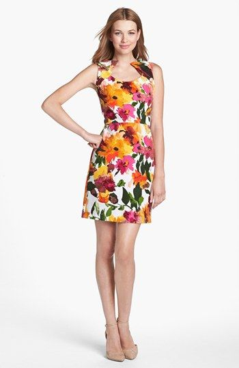 Floral Print Sheath