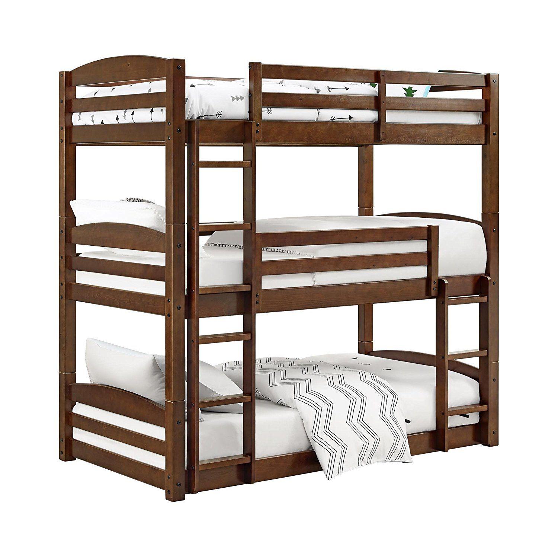 Mobby loft bed with stairs  Dorel Living DLTBB Sierra Bunk Bed Triple Bunkbed  enfant