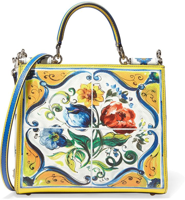 3167da04020f DOLCE   GABBANA SICILY SMALL PRINTED TEXTURED-LEATHER SHOULDER BAG ...