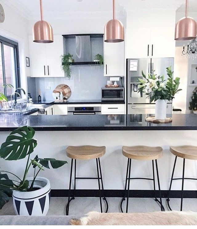 Kitchen Home Decor Modern Rose Gold House Plants Home