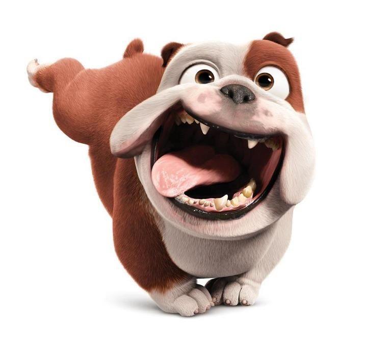 Happy Dance English Bulldog Dog Bulldog Cartoon Dog Caricature English Bulldog