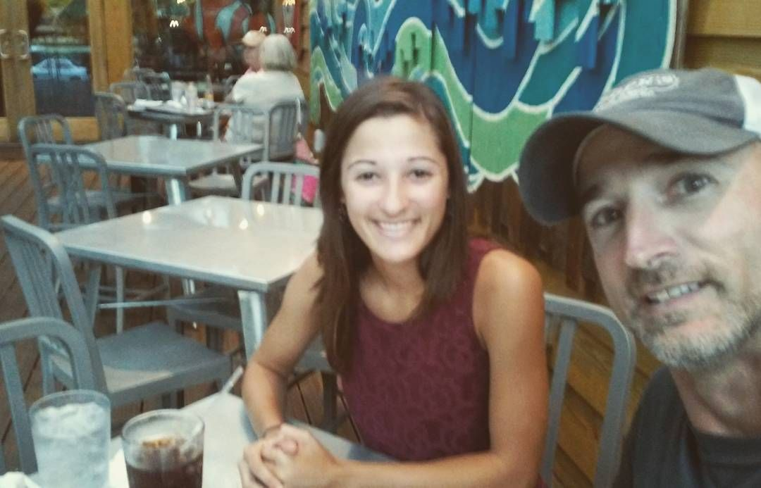 Blurry I know but this picture with these hashtags gets Mellow Mushroom to donate $3 to No Kids Go Hungry. And I get a picture with my Daddy at Mellow Mushroom on St Simon's Island #nokidshungry #mellowcupcake by cheyhutch