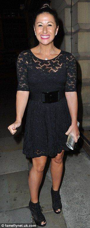 Glamour girls: Hayley Tamaddon and Katie McGlynn both wore short lace-detailed dresses for...