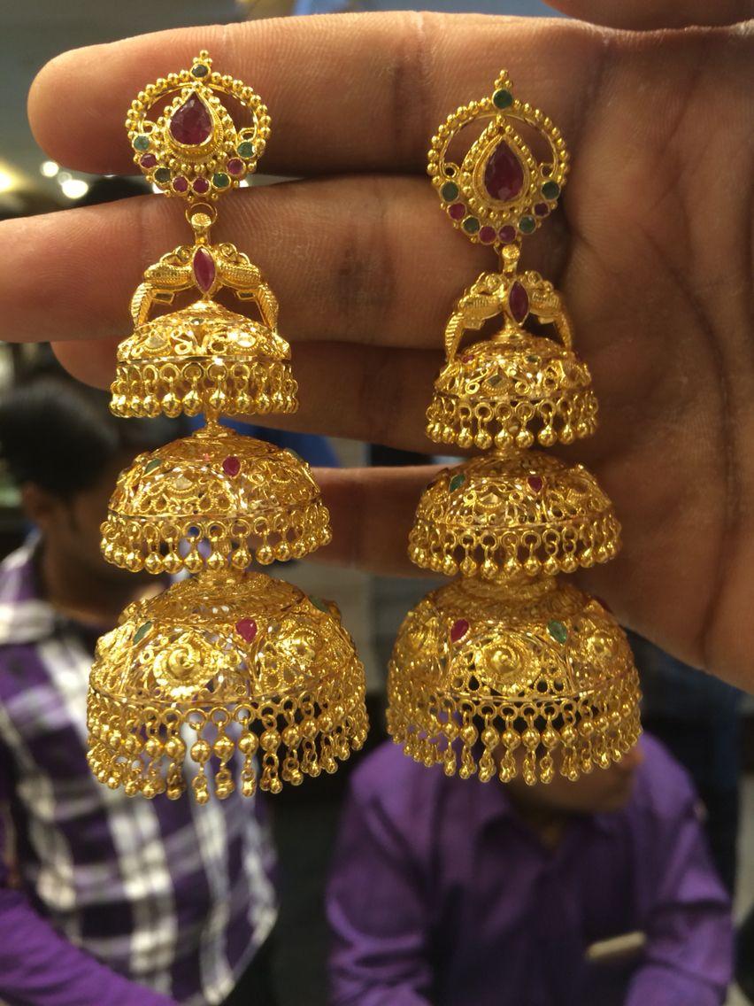e1ca8eedb 3 step Jumki 58 Gms #Indian #Jewellery | Her Assets | Jewelry, Gold ...
