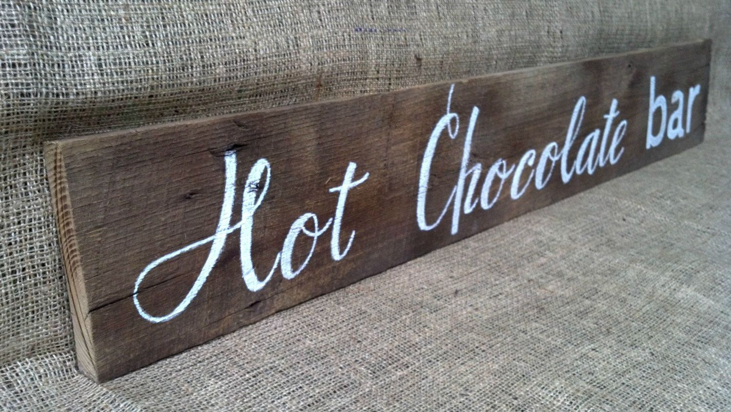 Hot chocolate bar sign by thelovelyglassjar on etsy 50