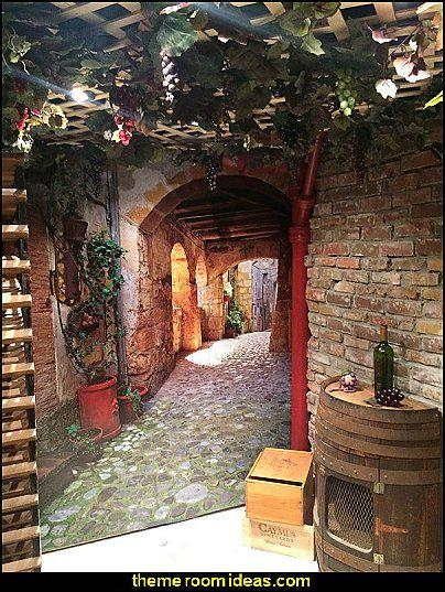 Cobblestone Page Tuscany Mural Vineyard Style