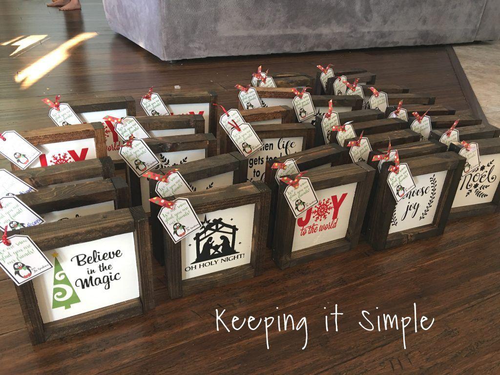 Christmas Neighbor Gift Idea Diy Small Farmhouse Signs Neighbor