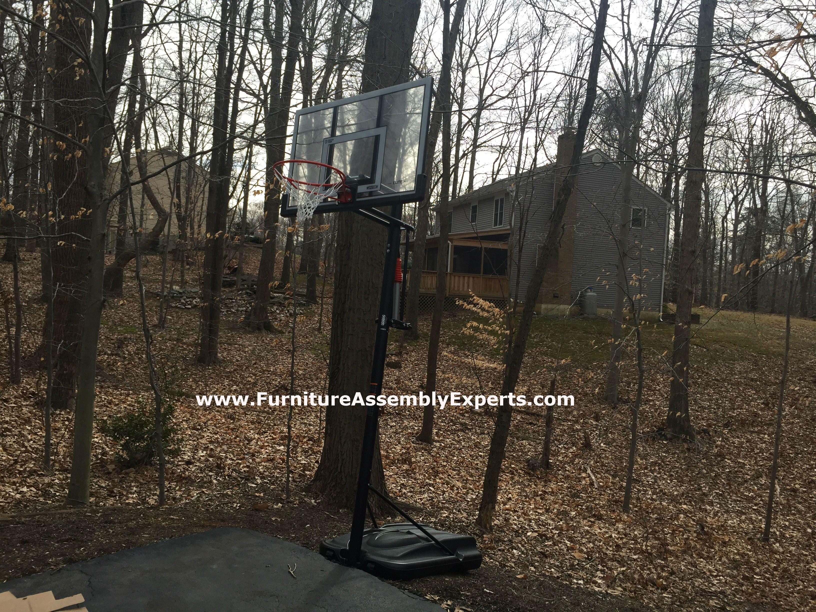 Lifetime Portable Basketball Hoop Assembled In Owing Mills Md By Furniture Assembly Experts Llc With Images Furniture Assembly