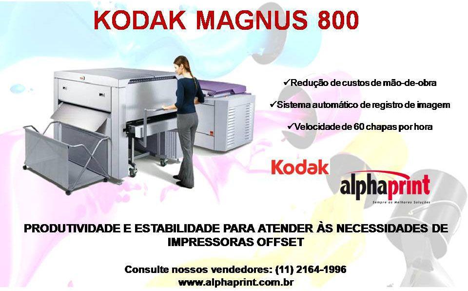 Kodak Magnus 800: Produtividade e estabilidade para atender às necessidades de impressoras offset.