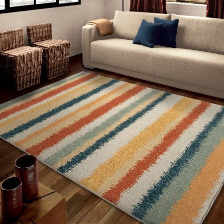 Orian Rugs Bright Color Stripes Henley Multi Area Rug Multicolor